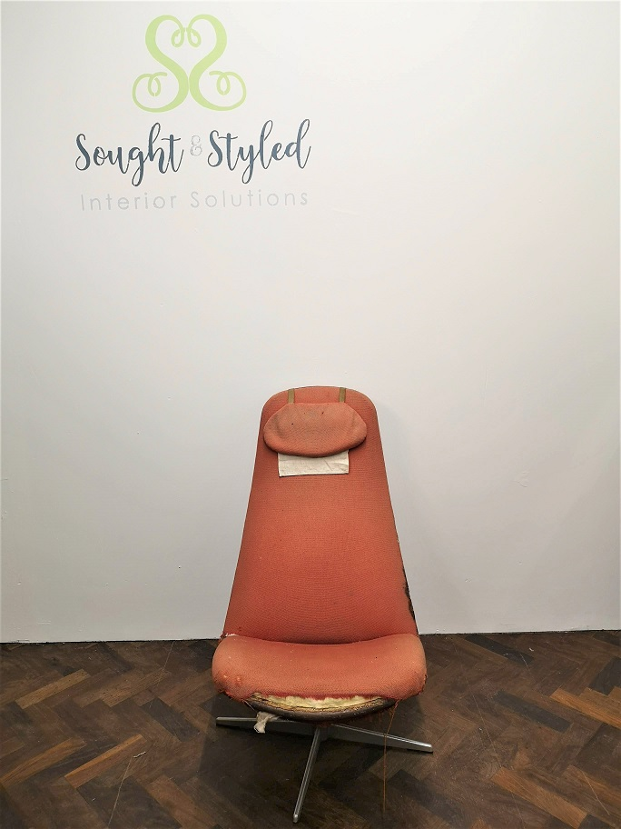 Commissions - 60s Chair Before - Sought & Styled