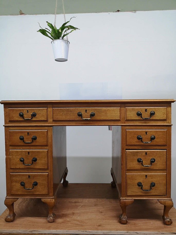 Commissions - Vintage Desk Before - Sought & Styled